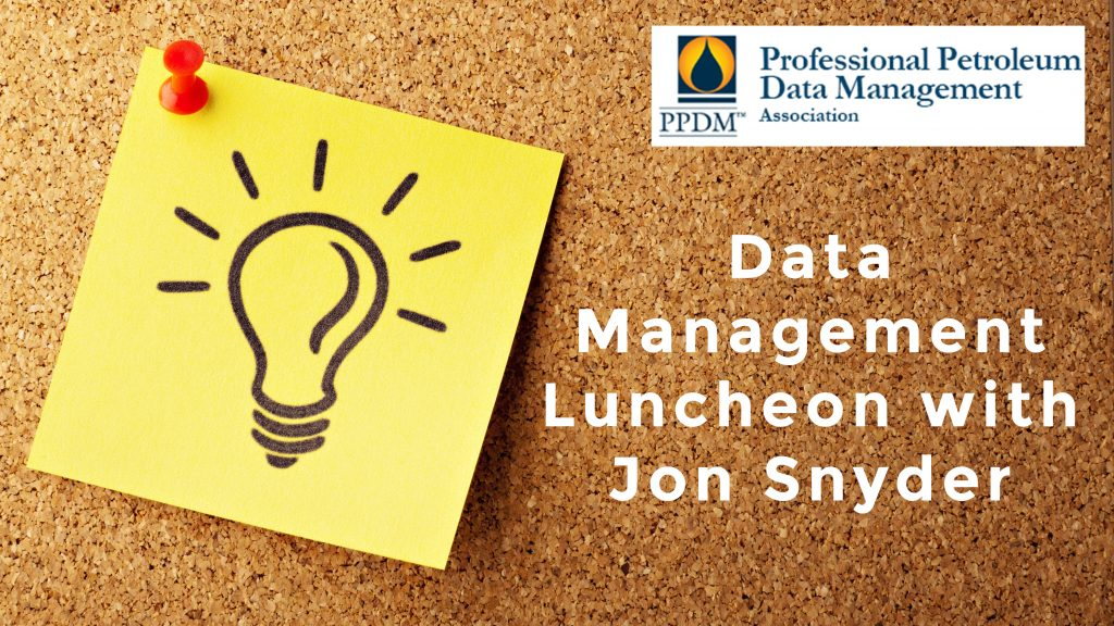 Jon Snyder Speaking at the PPDM Data Management Luncheon